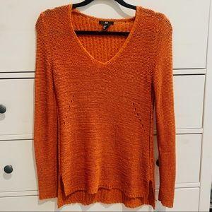 H&M pumpkin orange sweater